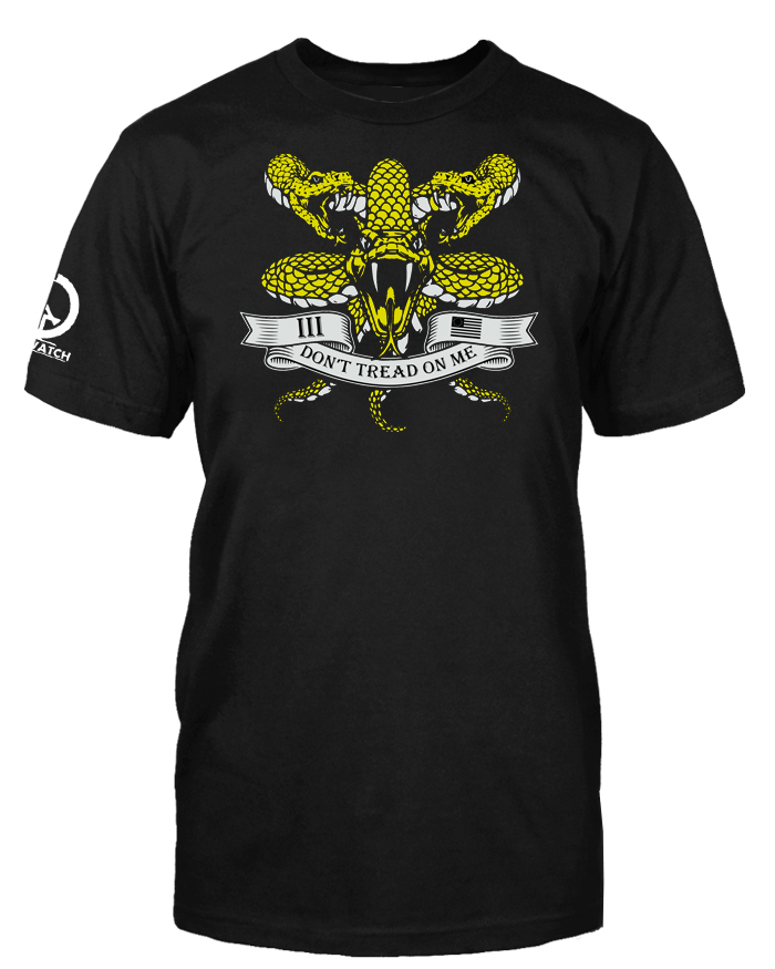 3 Percenter Don't Tread on Me Snakes Shirt