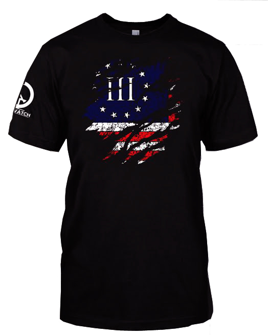 RWB 3P Flag Ripped Shirt